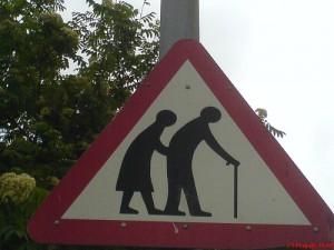 Old peeps crossing