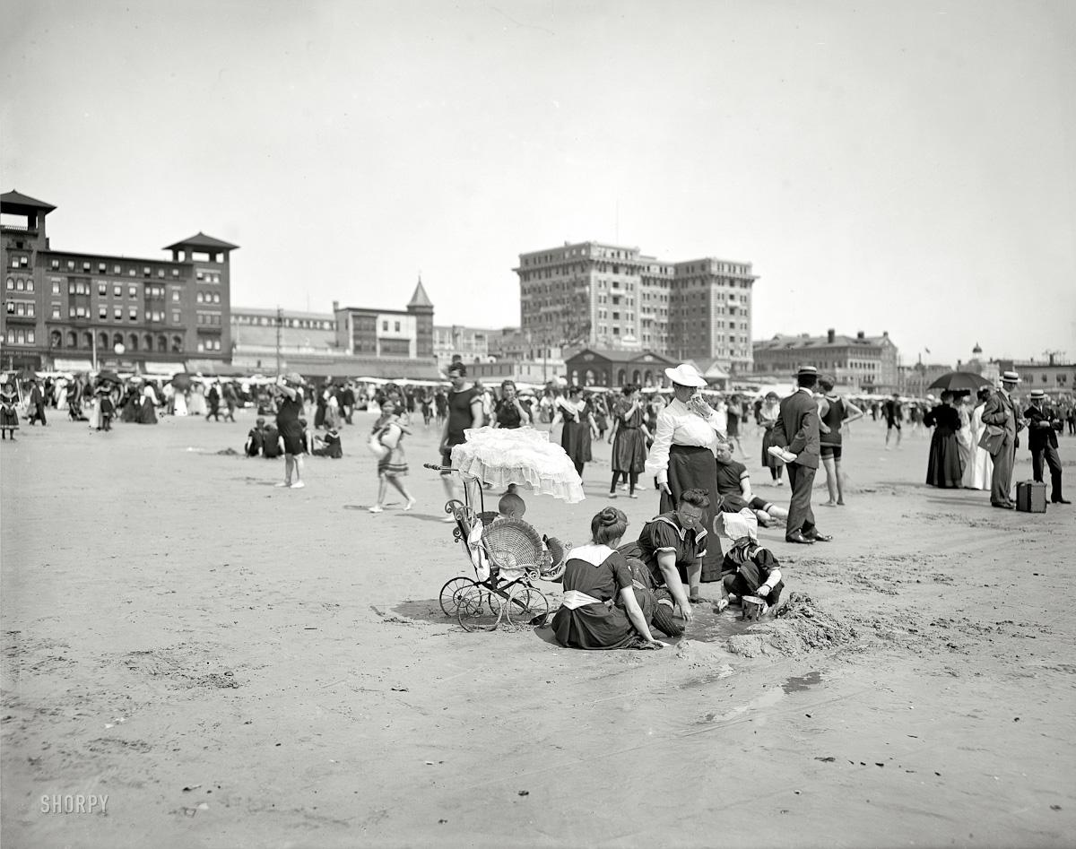 Atlantic City Beach 1910