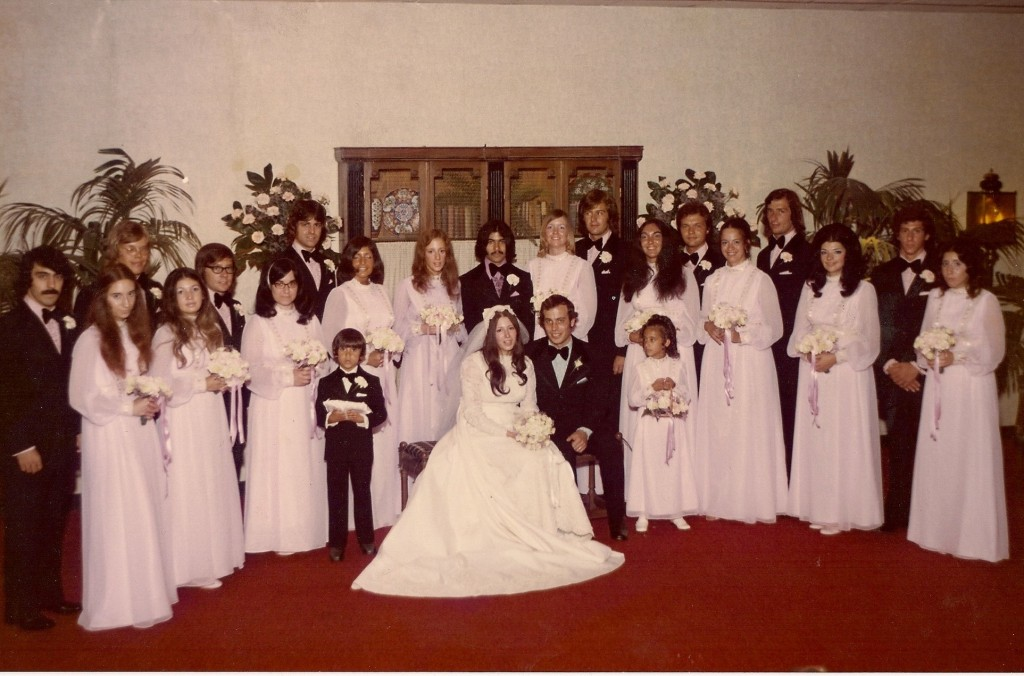 Typical Sicilian-American wedding. Our first one, July 15, 1972