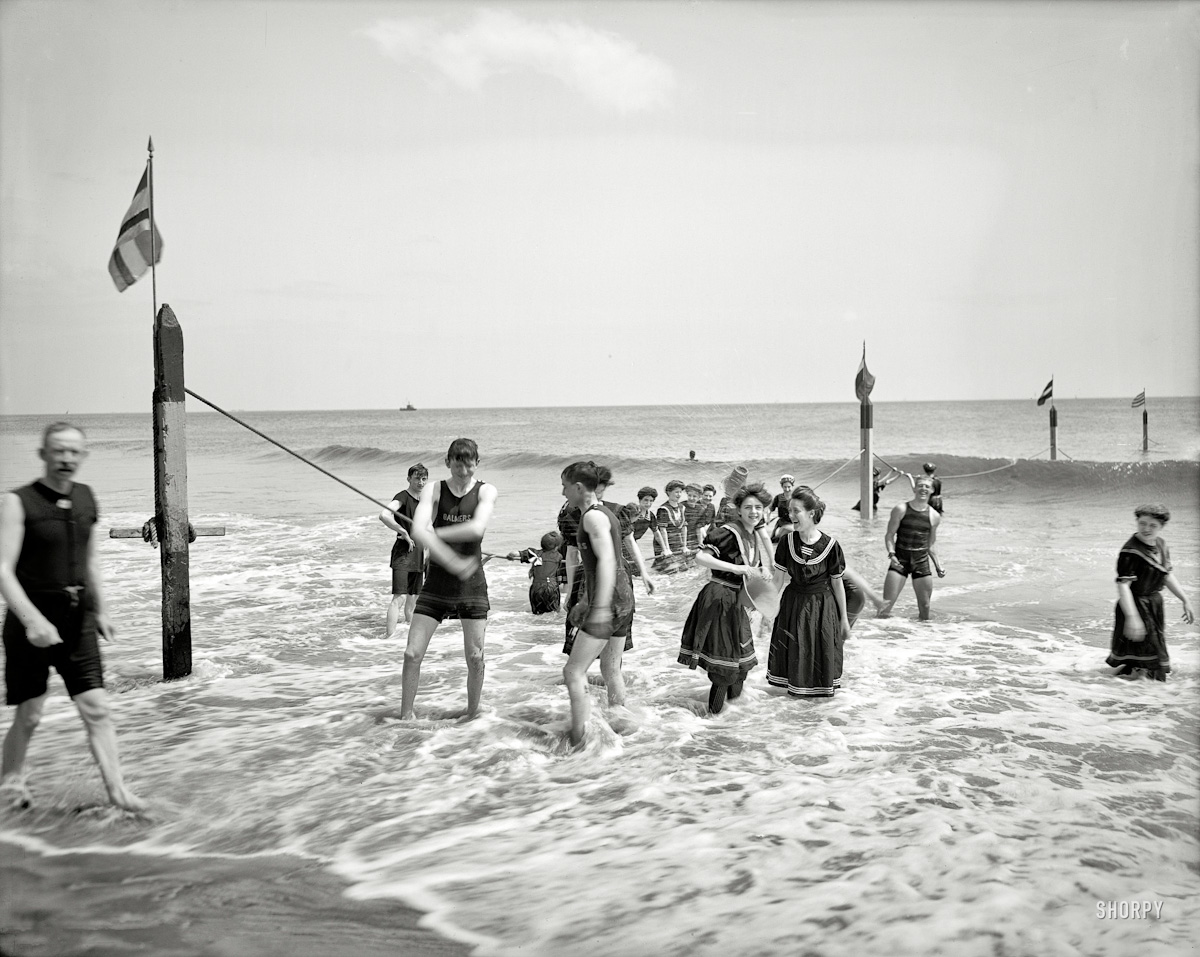 Coney Island bathers in 1905