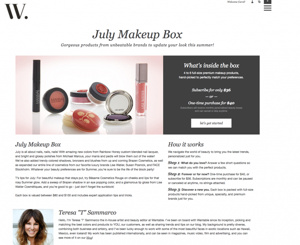 july makeup box