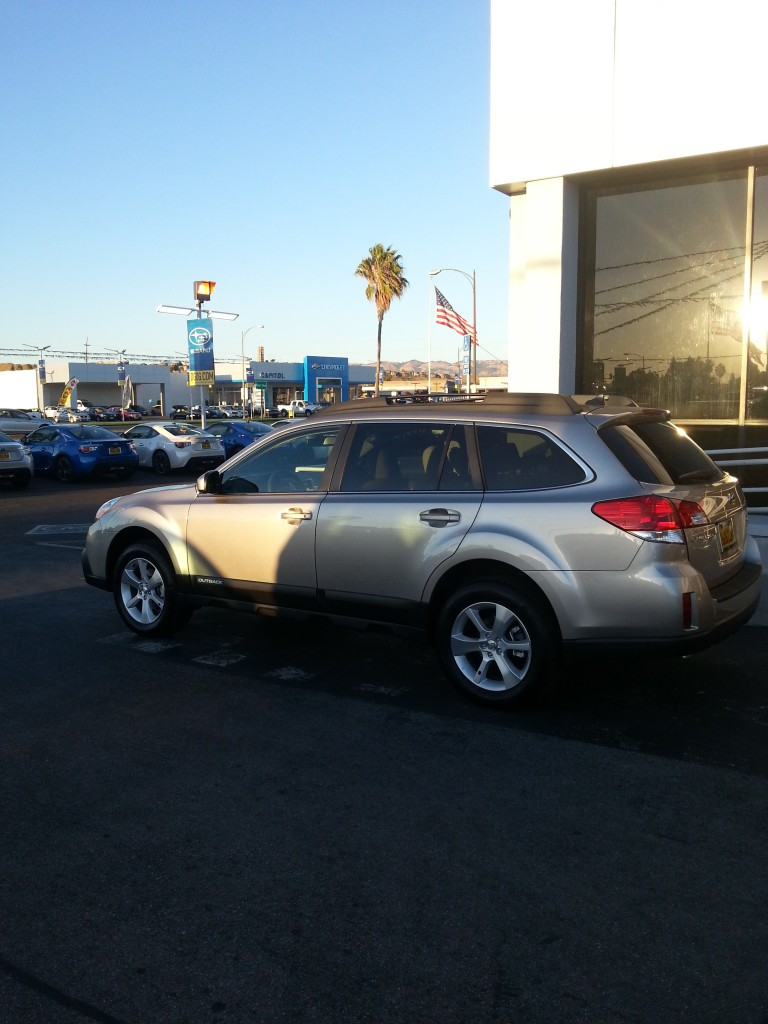 Welcoming the Starship Enterprise, a 2014 Subaru Outback Limited