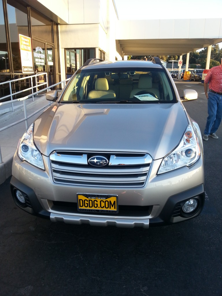 Introducing the Starship Enterprise. a 2014 Subaru Outback Limited