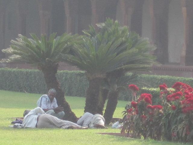 gardeners resting