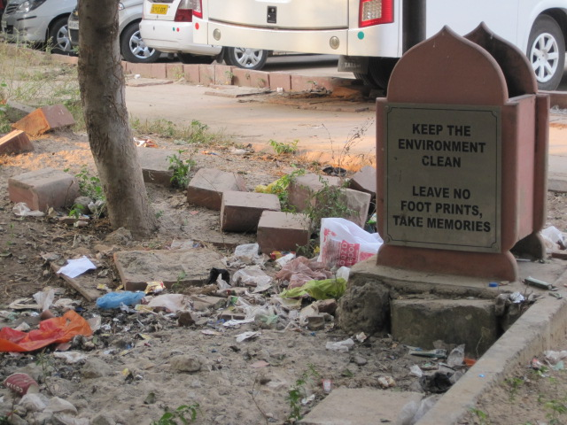 The irony. And this was just a tiny bit of garbage. I saw far worse piles. Far worse.
