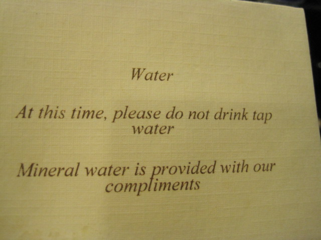 Sign in our hotel room