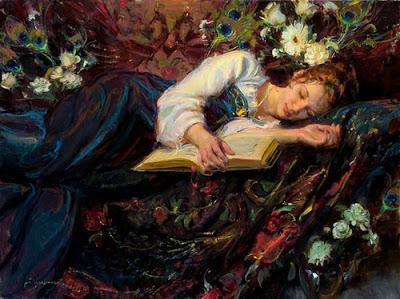 girl,painting,sleeping,book,flower,reading-d98de33061b00d2c076dbb929cb2dceb_h