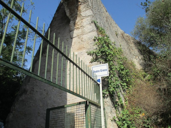 Teatro Greco sign