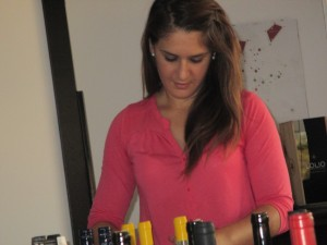 One of the winemakers at one of Sicily's biggest wine producers. If not the biggest. Yes, she looks 12 years old.