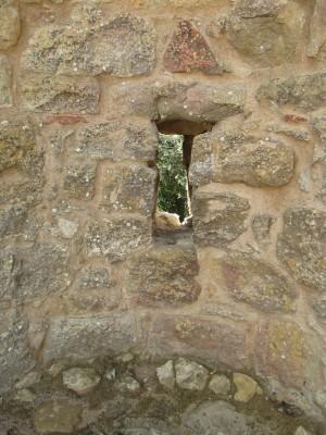 keyhole in rock