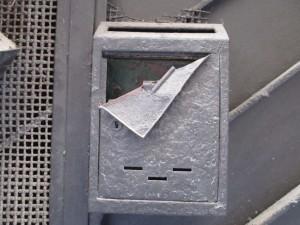 mailbox folded