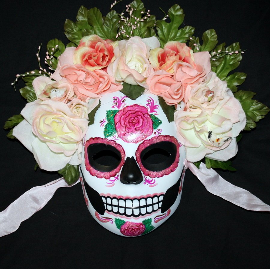 Sugar Skulls and the Day of the Dead - Carol Cassara Open Gates Of Heaven Drawing