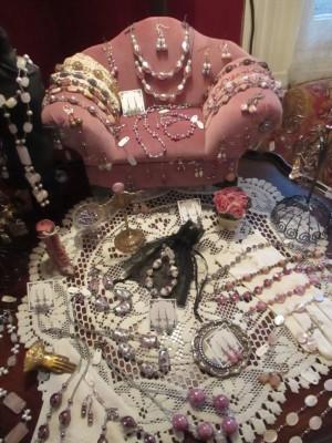 jewelry on sofa nice