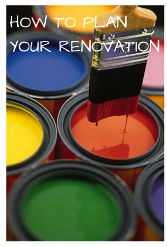 HOW TO PLANYOUR RENOVATION
