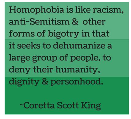 Homophobia is like racism,anti-Semitism